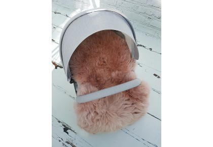 Stokke Style Rose Gold Luxury Sheepskin Pram Lining.
