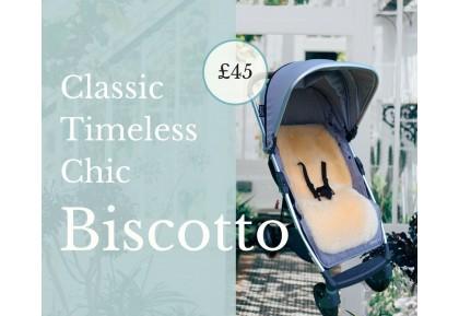NEW! Biscotto Luxury Lambskin Pram Liners.