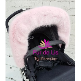 Soft Baby Pink Faux Fur Pram Hood Trim. Includes UK P&P.