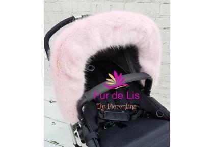 Soft Baby Pink Faux Fur Pram Hood Trim. Includes UK P&P.