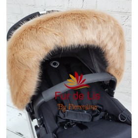 Fur de Lis Lapelle™, Faux Fur Pram Hood Trim For Bugaboo, Icandy, Stokke, Silver Cross and More. GOLDEN BEIGE. Includes UK P&P.