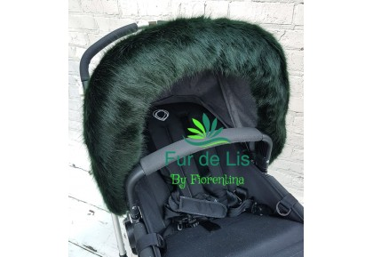 Fur de Lis Lapelle™, Faux Fur Pram Hood Trim For Bugaboo, Icandy, Stokke, Silver Cross and More. DEEP GREEN. Includes UK P&P.