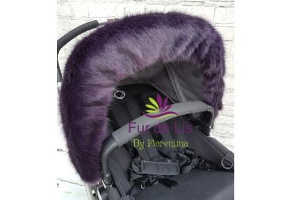 Fur de Lis Lapelle™, Faux Fur Pram Hood Trim For Bugaboo, Icandy, Stokke, Silver Cross and More. DEEP PURPLE. Includes UK P&P.