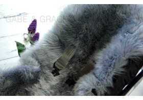 Platinum Grey Midi Luxury Lambskin Pram Liner.