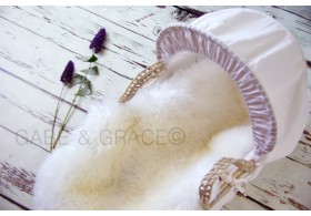 Perla Luxury Lambskin Baby Rug. (Midi Wool Pile) ~PERFECT FOR NEWBORN PICS. PRE-ORDER DUE IN MID FEB