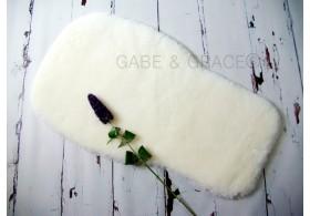 Bugaboo Style White Shorn Luxury Lambskin Pram Liner.