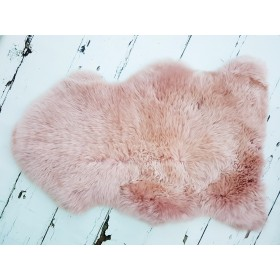 Rose Gold Midi Luxury Lambskin Rug. PRE-ORDER DUE IN MID FEB