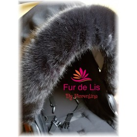Soft Charcoal Faux Fur Pram Hood Trim.
