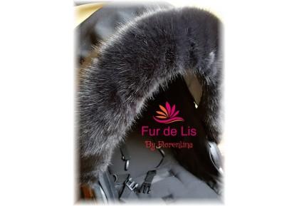 Soft Charcoal Faux Fur Pram Hood Trim. Includes UK P&P.