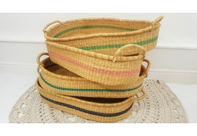 Luxury Natural Handwoven Baby Changing Baskets