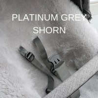 PLATINUM GREY SHORN LAMBSKIN