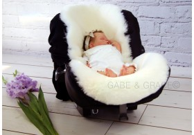 Platinum Grey Shorn Luxury Lambskin Pram Liner. PRE-ORDER