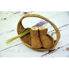 Chestnut Lambskin Baby Booties: LIMITED STOCK!