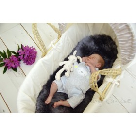 NEW! Luxury Lambskin Moses Basket / Bassinet Liner. Colour choices