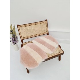 Luxury Stripe Sheepskin Liner (Vintage Rose / Ivory) Made to fit Charlie Crane Levo Rocker
