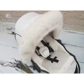 Fur de Lis Lapelle™, Faux Fur Pram Hood Trim For Bugaboo, Icandy, Stokke, Silver Cross and More. SOFT WHITE. Includes UK P&P.