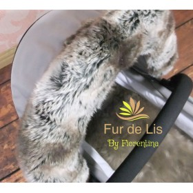 Fur de Lis Lapelle™, Faux Fur Pram Hood Trim For Bugaboo, Icandy, Stokke, Silver Cross and More. SOFT MINK. Includes UK P&P.