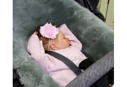 Stokke Style Platinum Gray Shorn Luxury Sheepskin Pram Lining.