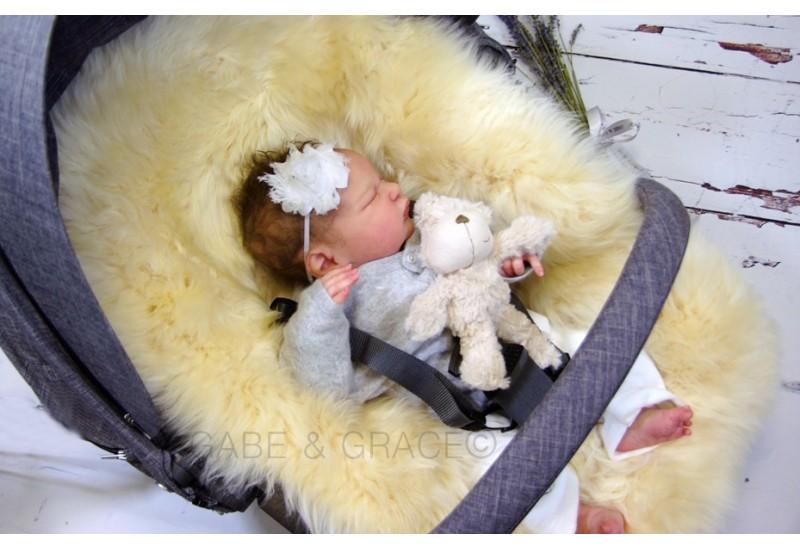Stokke Style Ivory Midi Luxury Sheepskin Pram Lining