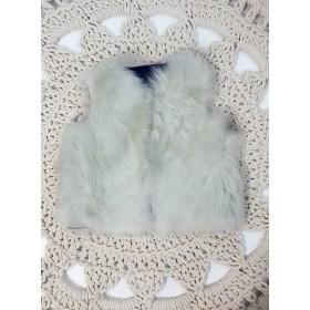 Powder White Shearling Gilets